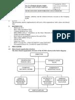 HT- 02 Procedure for Organisation, Responsibilities
