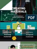 Creating Materials