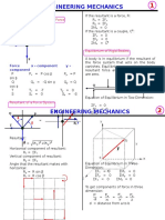Engineering Mechanics Formulas