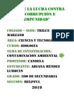 Trabajo de Investigacion Biologia