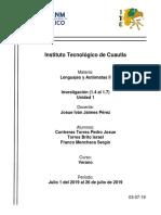 Investigacion Lenguajes y Automatas 1.4 al 1.7