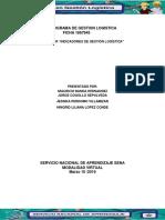 Evidencia 3 Taller Indicadores de Gestion Logistica