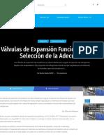 Válvulas de Expansión Funcionamiento y Selección