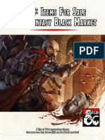 100 Items for Sale in a Fantasy Black Market
