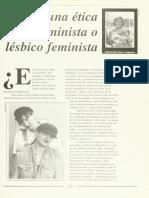 Hacia una ética lesbiana