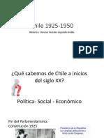 Chile 1925-1950