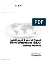 Notifier Intelligent Control Panel FireWarden SLC Wiring Manual