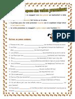 Le Passe Compose Des Verbes Pronominaux Exercice Grammatical 23644