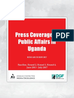 Press Coverage of Public Affairs in Uganda, June 2013 - July 2017