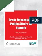 Press Coverage of Public Affairs in Uganda, June 2013 - July 2017