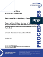 Return to Work Advisory Services