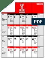 Core Challenge Workout Calendar