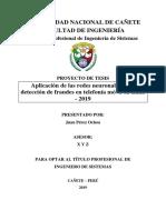 Estructura Del Proyecto de Tesis Undc 2019