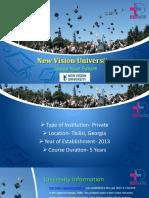 New Vision University Ppt