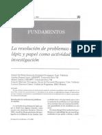 La Resolucion de Problemas de Lapiz y Papel