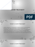 Water Treatment Lecture