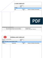 SM - Checklist