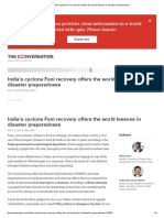 Cyclone Fani Recovery Offers the World Lessons in Disaster Preparedness