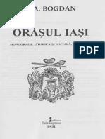 N. A. Bogdan - Orașul Iași - Monografie Istorică Si Socială Ilustrată (1915)