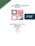 Informe Sobre Programacion de Estacion Total
