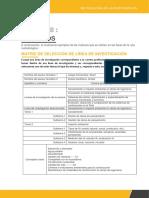 matrices para proceso de  investigacion