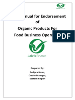 User Manual for Endorsement of Organic Products