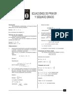ECUACIONES DE 1° Y 2°