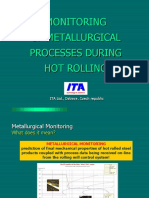 MONITORING OF METALLURGICAL PROCESSES DURING HOT ROLLING