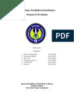 Tugas Paper Pendidikan Sosial Budaya