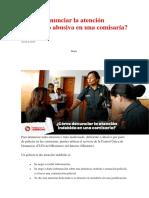 Cómo Denunciar La Atención Indebida o Abusiva en Una Comisaría
