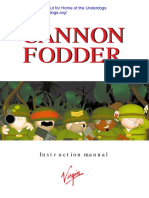 Cannon fodder manual DOS
