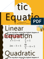1.1 Quadratic Equations