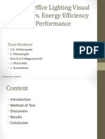Evening Office Lighting Visual Comfort vs. Energy Efficiency vs. Performance