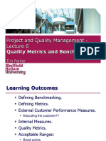 Quality Metrics and Benchmarking