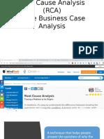 Root Cause Analysis (RCA)