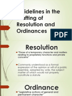Guidelines in the Drafting of Resolution and Ordinances PPT