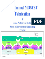 N channel, p channel fabrication by School of Microelectronics