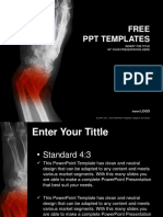 Broken Forearm Medical PowerPoint Templates Standard