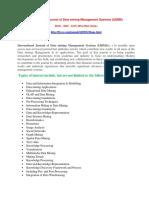 International Journal of Data mining Management Systems (IJDMS)