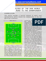 Tactical Analysis Wc 2006 of Italy