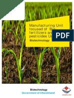 UK Manufacturing of Biofertilizers and Biopesticides
