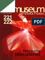 Museum International. Visages et visions de l'immatériel