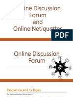 Online Discussion Forum and Netiquittes
