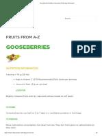 Gooseberries Nutrition Information & Storage Information