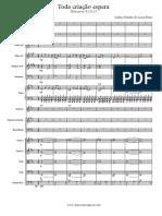 Toda criação espera - Coro e Orquestra - Score