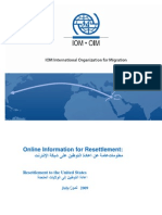 Online Information for Resettlement to the USA Final Draft 27 08 09 (2)
