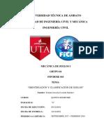 Informe 10 Identificación y Clasificación de Suelos