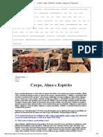 CORPO - ALMA - ESPÍRITO - Na Bíblia - Antigo Novo Testamento