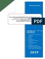 Modelo Plan de Mantenimiento de agua potable