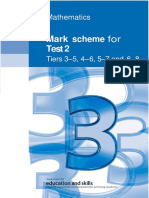 3rd Practice Mark Scheme for Maths Test 2 - All Tiers